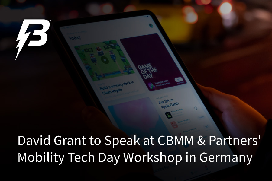 Battery Streak's David Grant to Speak at CBMM & Partners' Mobility Tech Day Workshop in Germany