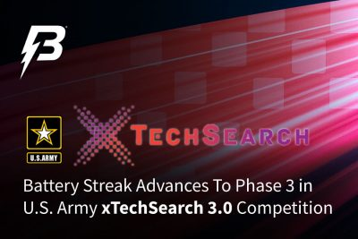 Battery Streak selected in Phase 3 of the U.S. Army xTechSearch